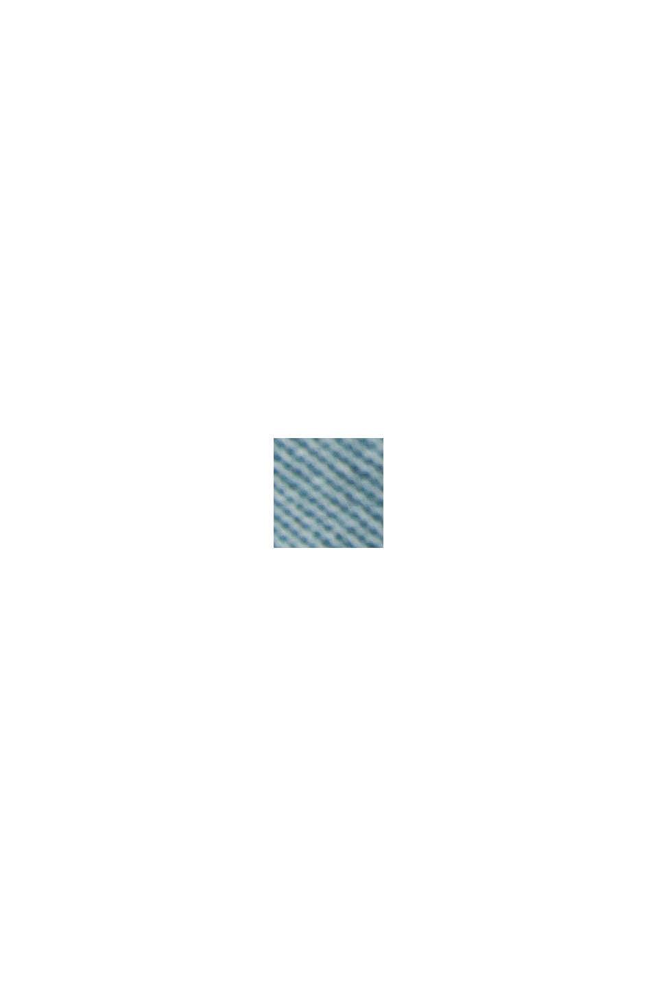 Med bælte: bermudashorts i bomuldsstretch, TURQUOISE, swatch