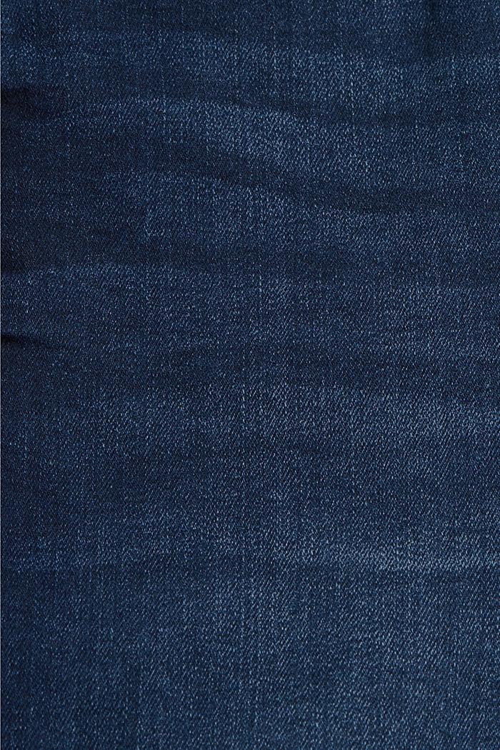 Jeans-Shorts aus Bio-Baumwoll-Mix, BLUE DARK WASHED, detail image number 4