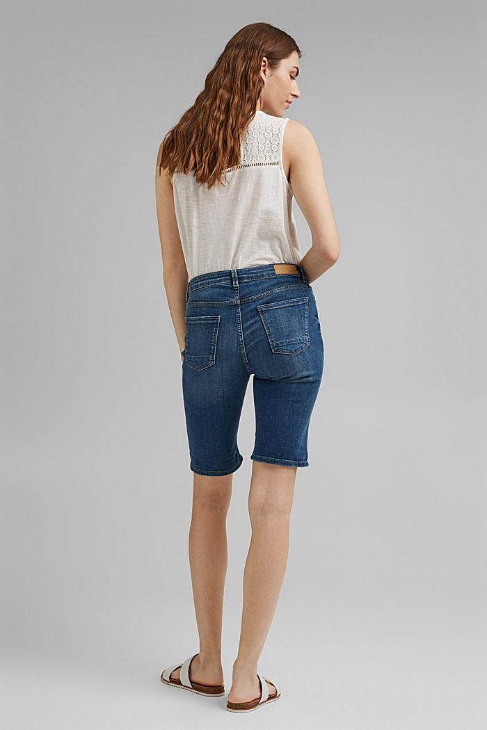 Jeans-Shorts aus Bio-Baumwoll-Mix, BLUE MEDIUM WASHED, detail image number 3