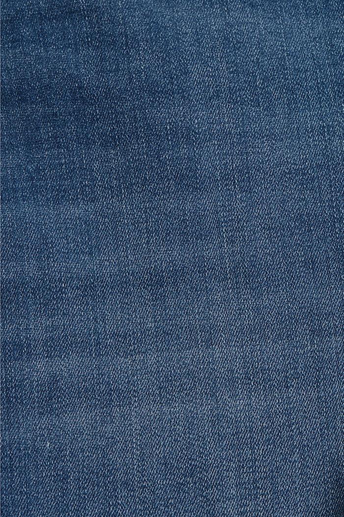 Jeans-Shorts aus Bio-Baumwoll-Mix, BLUE MEDIUM WASHED, detail image number 4