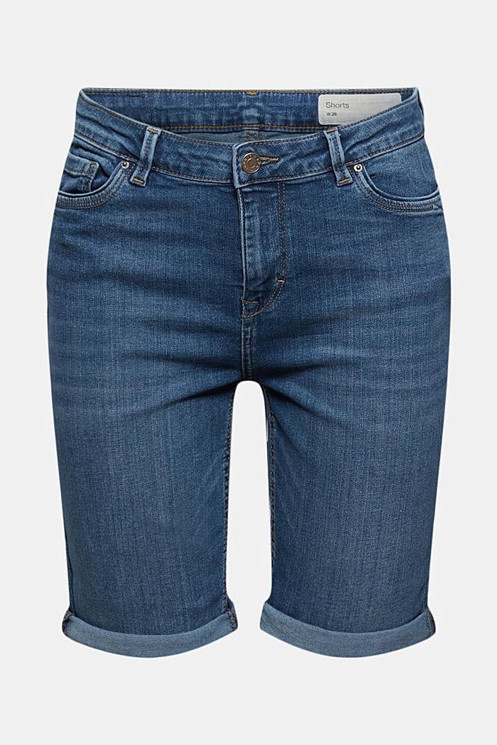 Denim shorts made of blended organic cotton