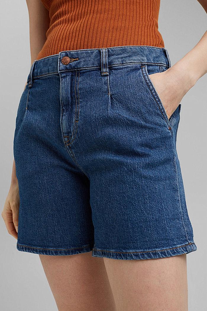 Vaqueros cortos de algodón ecológico, BLUE MEDIUM WASHED, detail image number 2