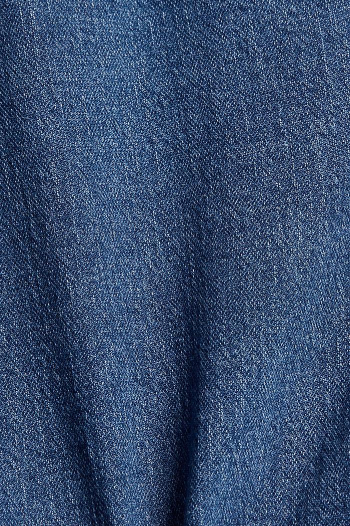 Vaqueros cortos de algodón ecológico, BLUE MEDIUM WASHED, detail image number 4