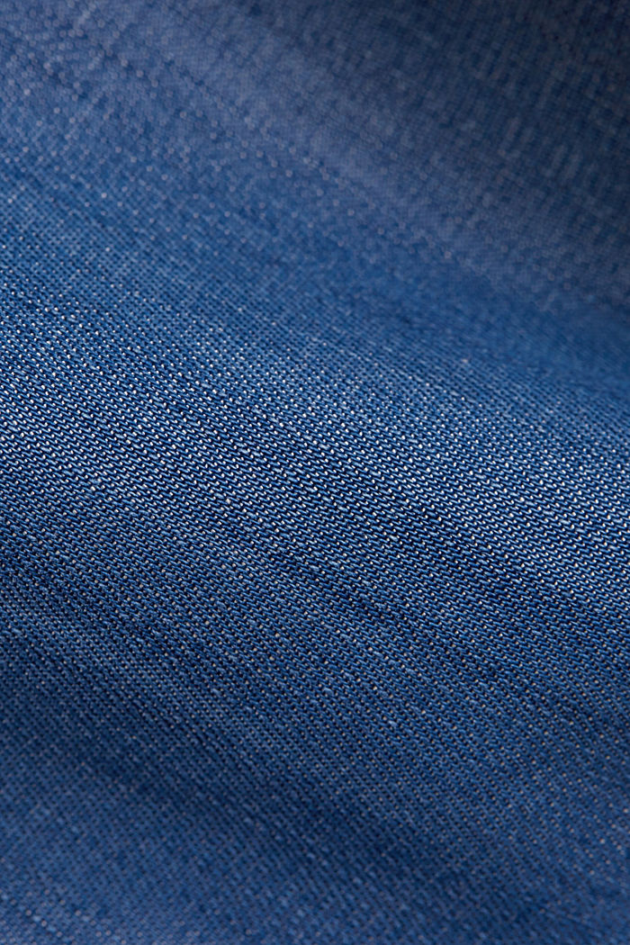 Aus TENCEL™: Shorts im Jeans-Look, BLUE MEDIUM WASHED, detail image number 4