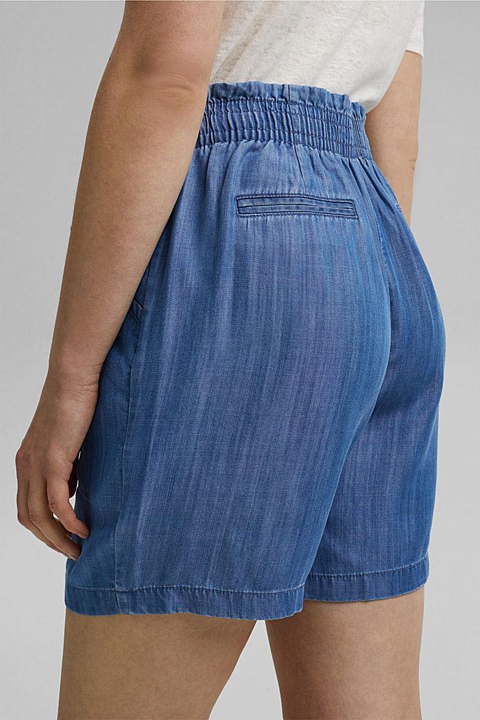 Made of TENCEL™: denim-effect shorts, BLUE MEDIUM WASHED, detail image number 5