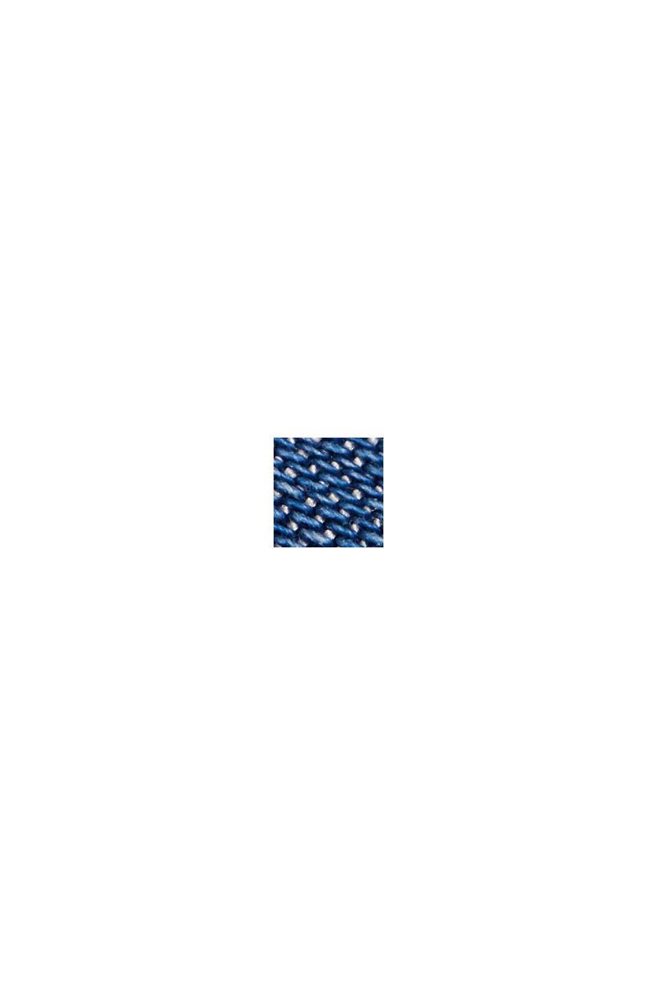 Aus TENCEL™: Shorts im Jeans-Look, BLUE MEDIUM WASHED, swatch