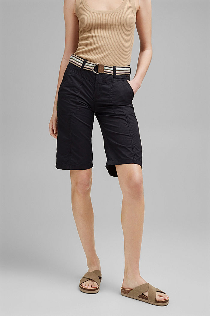 PLAY Bermudas made of organic cotton, BLACK, detail image number 0