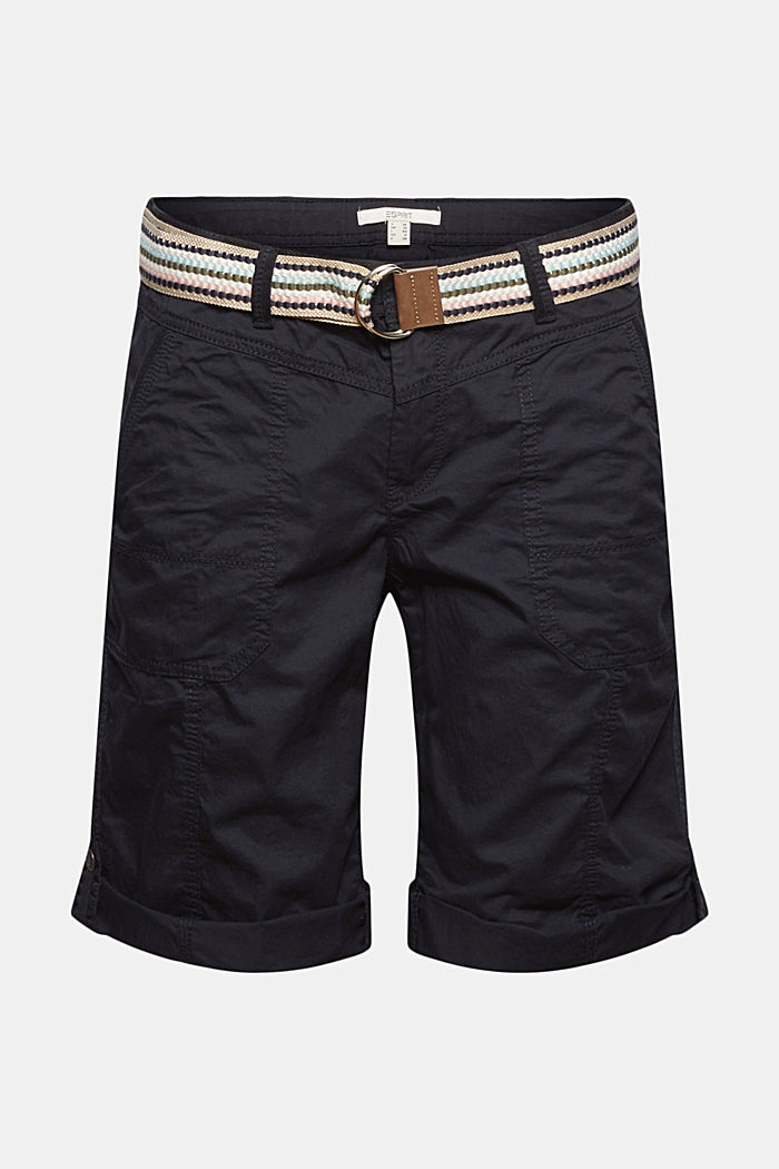 PLAY Bermudas made of organic cotton, BLACK, overview