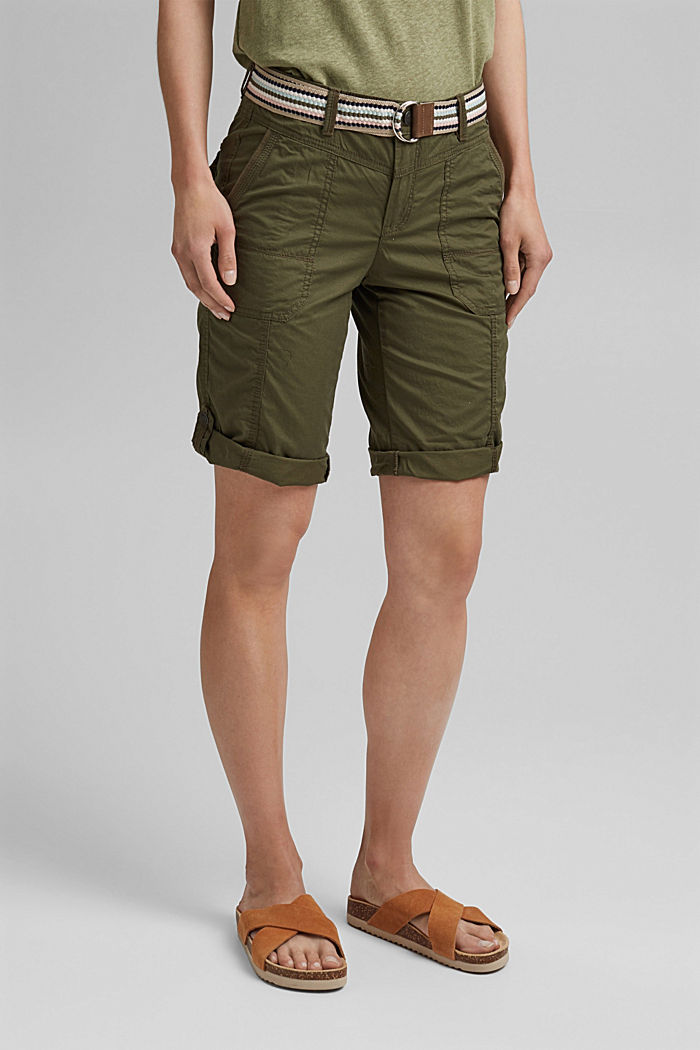 PLAY Bermudas made of organic cotton, KHAKI GREEN, detail image number 0