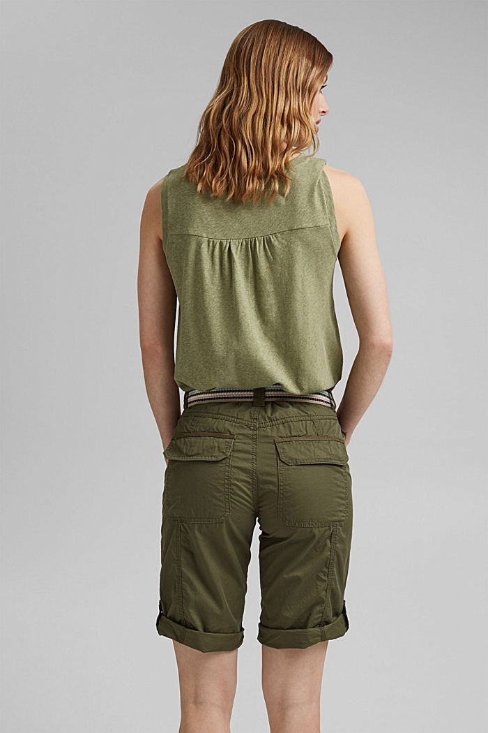 PLAY Bermudas made of organic cotton, KHAKI GREEN, detail image number 3