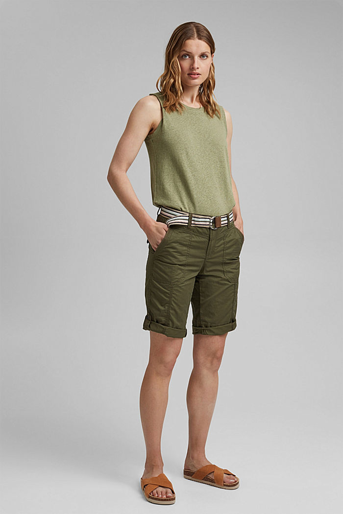 PLAY Bermudas made of organic cotton, KHAKI GREEN, detail image number 1