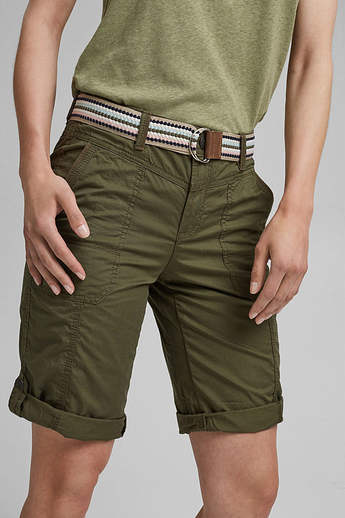 PLAY Bermudas made of organic cotton, KHAKI GREEN, detail image number 2