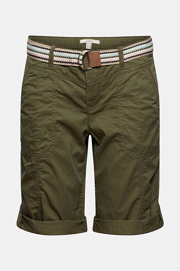 PLAY Bermudas made of organic cotton, KHAKI GREEN, detail image number 6