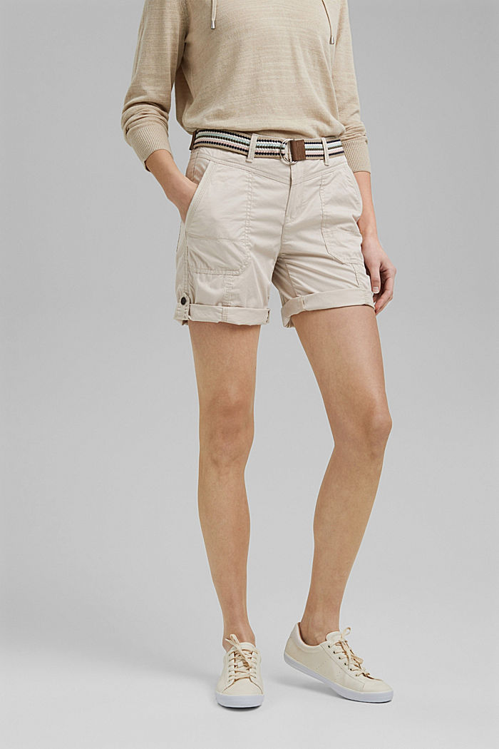 PLAY Shorts aus Organic Cotton, SAND, detail image number 0