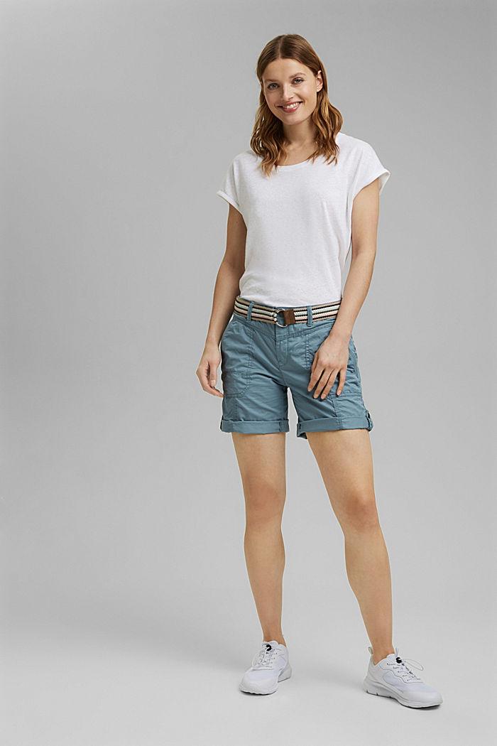 PLAY Shorts aus Organic Cotton, GREY BLUE, detail image number 1
