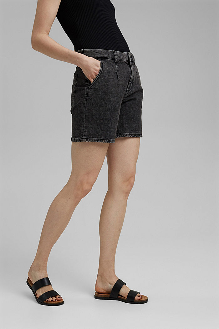 Shorts denim, BLACK DARK WASHED, detail image number 0