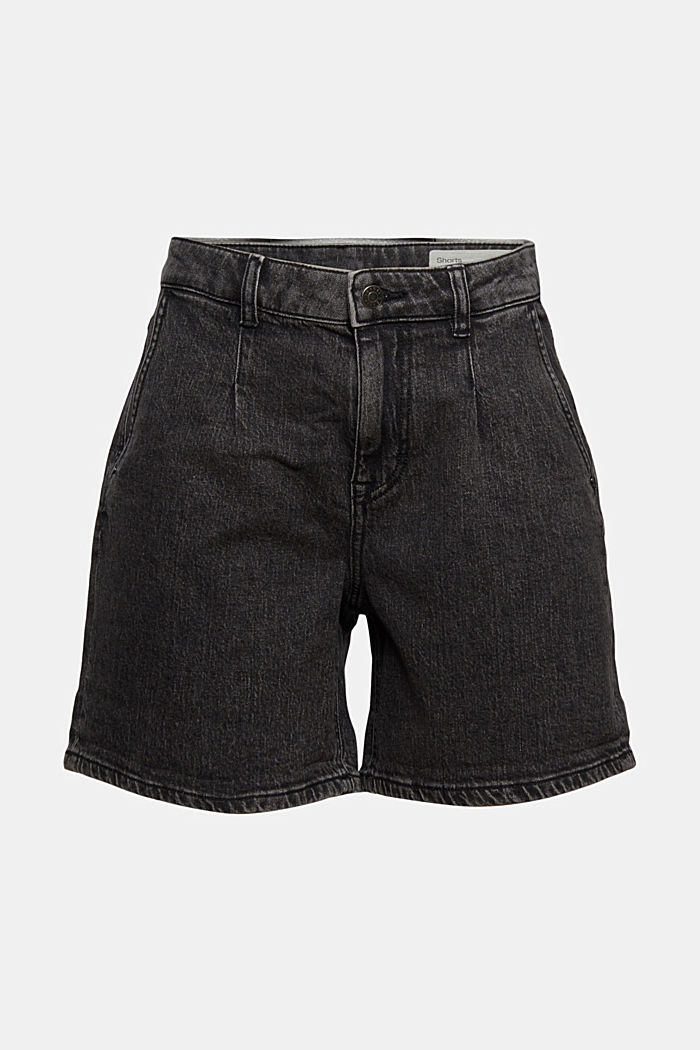 Shorts denim, BLACK DARK WASHED, detail image number 7