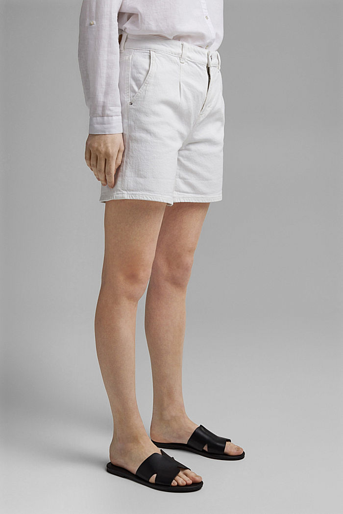 Jeans-Shorts aus Organic Cotton, OFF WHITE, detail image number 0