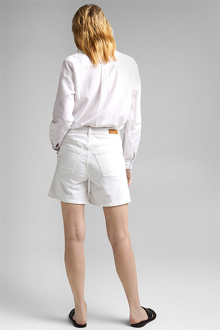 Jeans-Shorts aus Organic Cotton, OFF WHITE, detail image number 3