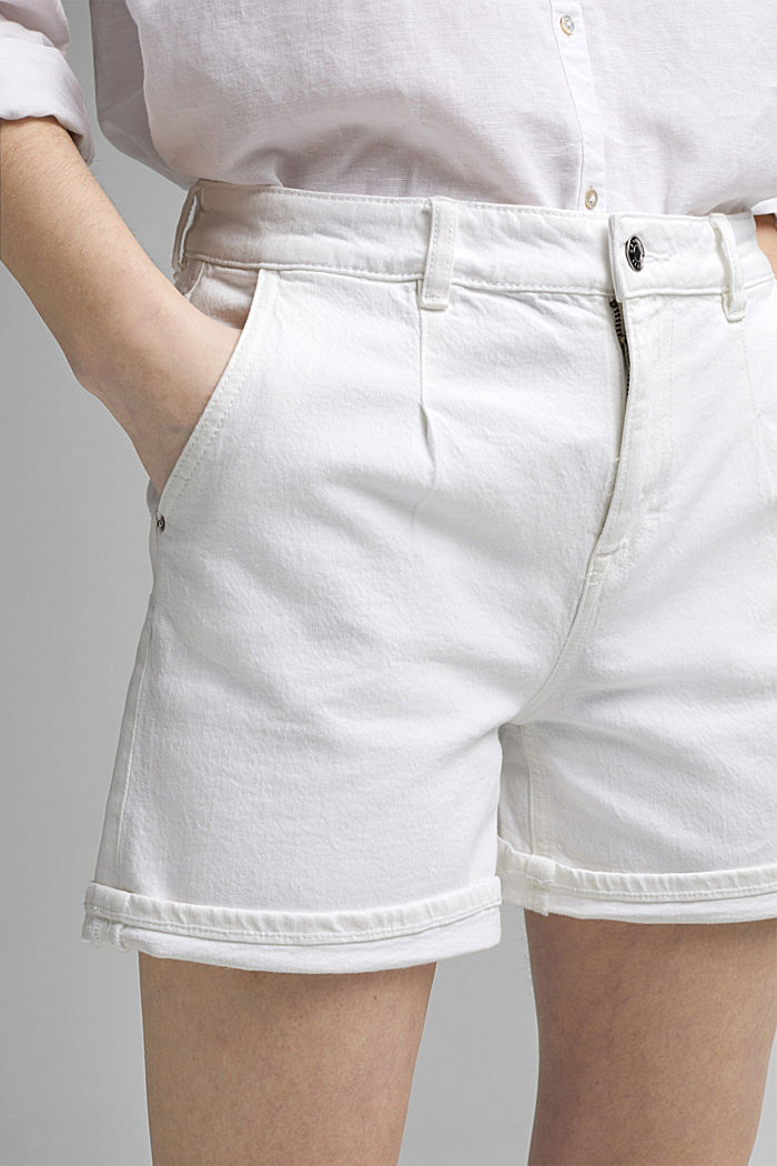 Jeans-Shorts aus Organic Cotton, OFF WHITE, detail image number 2