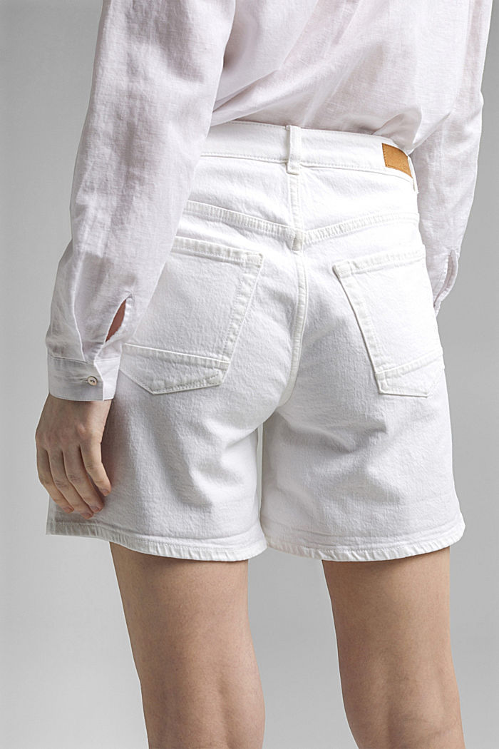 Jeans-Shorts aus Organic Cotton, OFF WHITE, detail image number 5