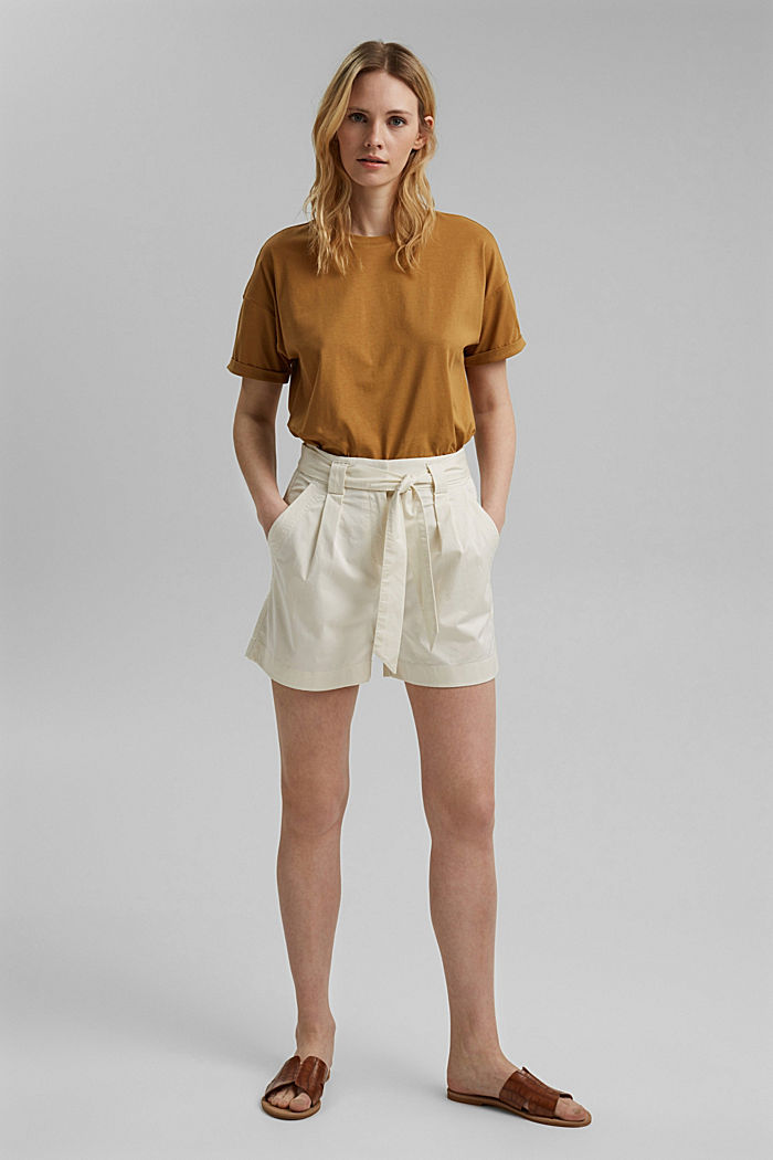 Shorts in a paper bag style with a belt, ICE, detail image number 1