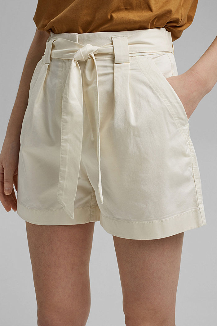 Shorts in a paper bag style with a belt, ICE, detail image number 2