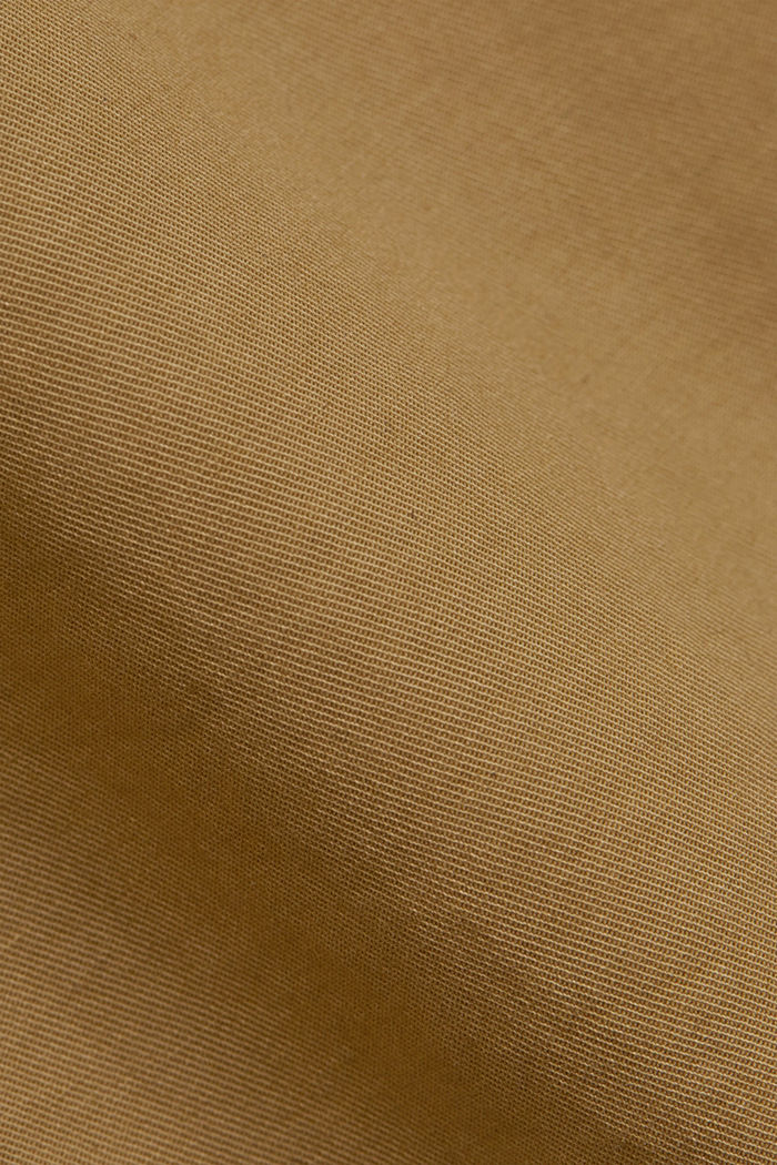 With a belt: utility shorts made of pima cotton, CAMEL, detail image number 4