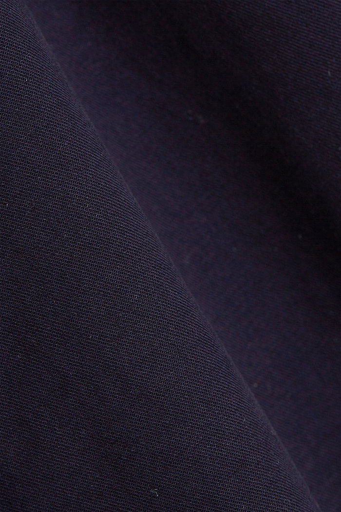 With a belt: utility shorts made of pima cotton, NAVY, detail image number 4