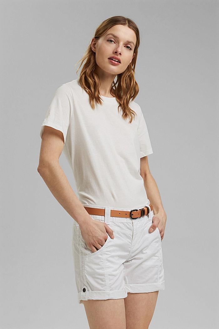 PLAY shorts en 100% algodón ecológico, WHITE, detail image number 0