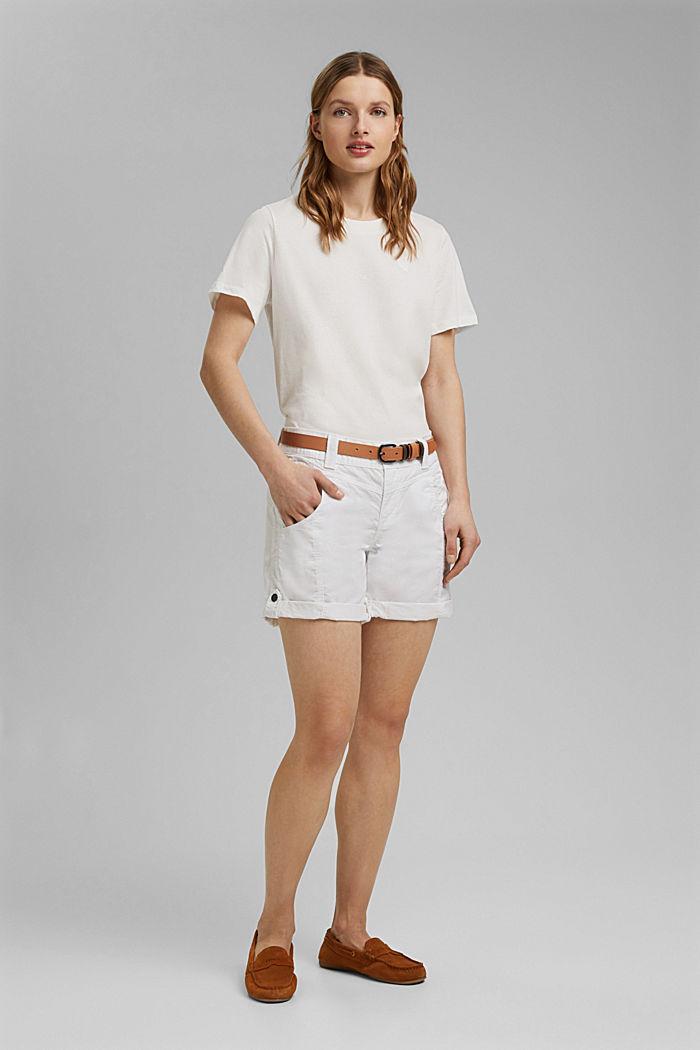 PLAY shorts en 100% algodón ecológico, WHITE, detail image number 1