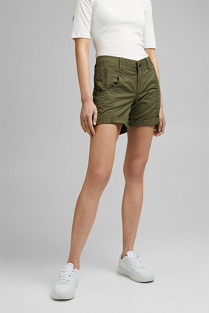 PLAY Shorts aus 100% Organic Cotton, KHAKI GREEN, detail image number 0