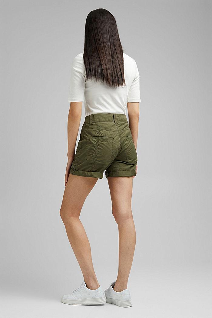 PLAY Shorts aus 100% Organic Cotton, KHAKI GREEN, detail image number 3