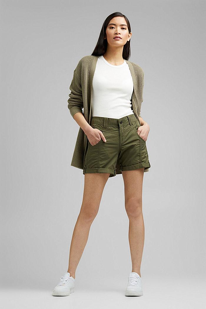 PLAY Shorts aus 100% Organic Cotton, KHAKI GREEN, detail image number 1