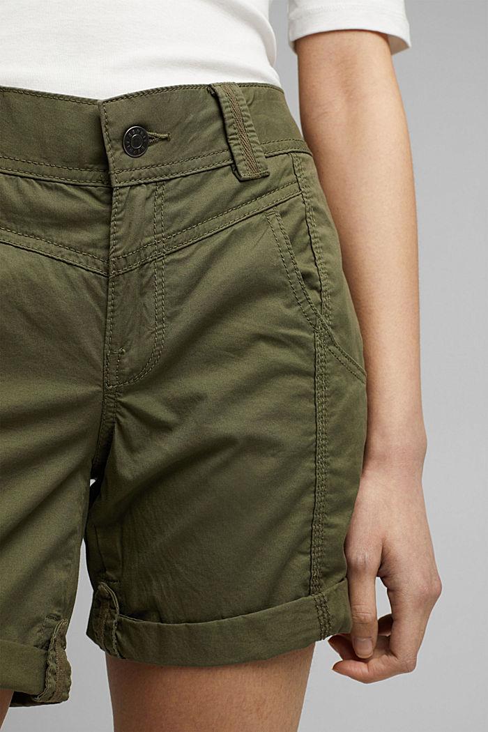 PLAY Shorts aus 100% Organic Cotton, KHAKI GREEN, detail image number 2