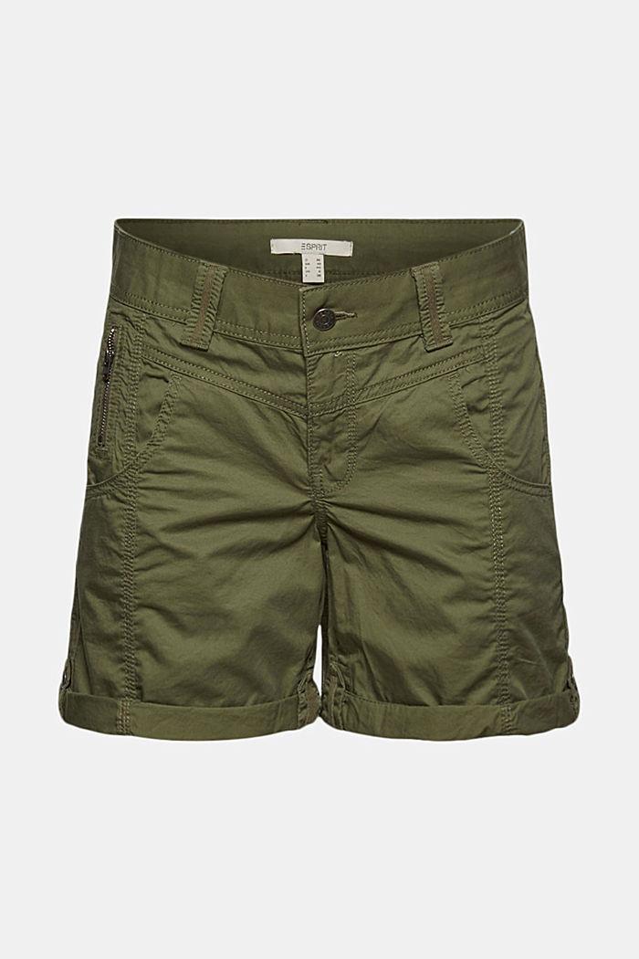 PLAY Shorts aus 100% Organic Cotton, KHAKI GREEN, detail image number 5
