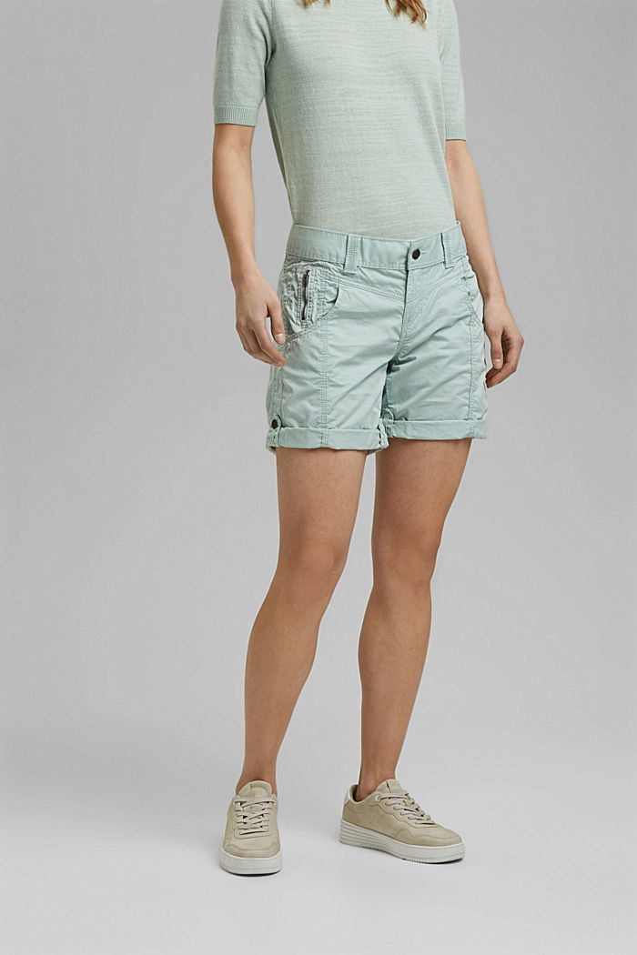 PLAY shorts made of 100% organic cotton, LIGHT AQUA GREEN, detail image number 0