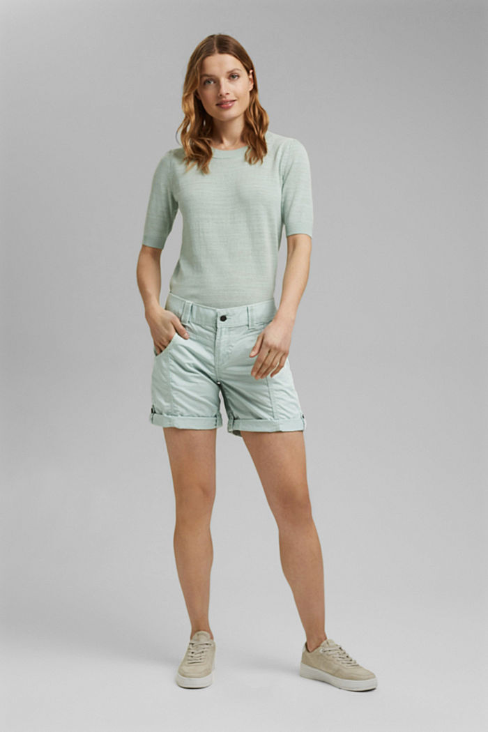 PLAY shorts made of 100% organic cotton, LIGHT AQUA GREEN, detail image number 1