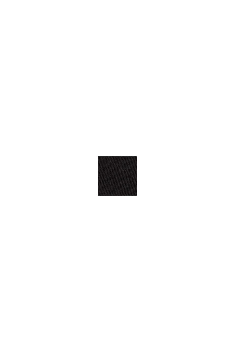 Midi-Rock aus Baumwoll-Popeline, BLACK, swatch