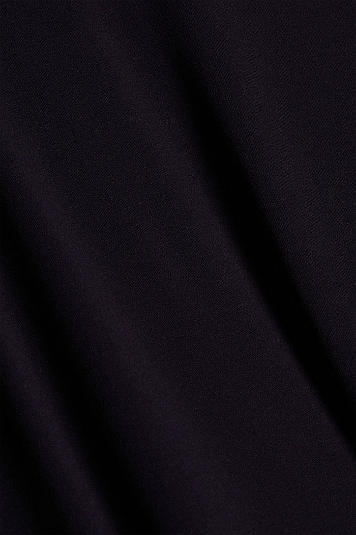 Jersey skirt with a hem frill, BLACK, detail image number 4