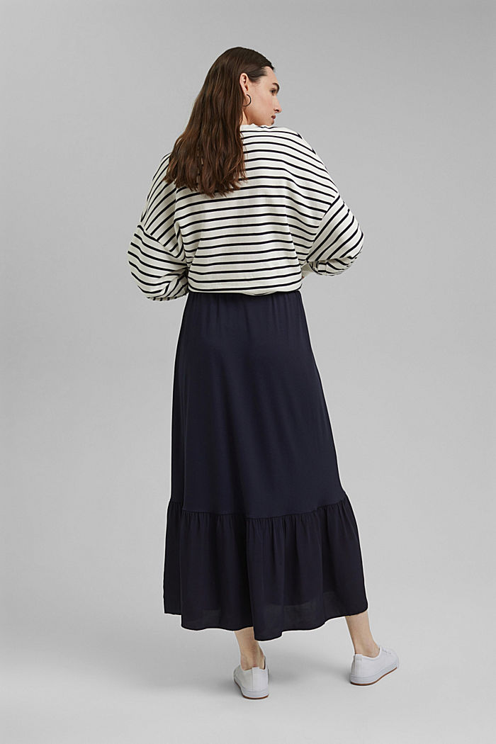 Jersey skirt with a hem frill, NAVY, detail image number 3