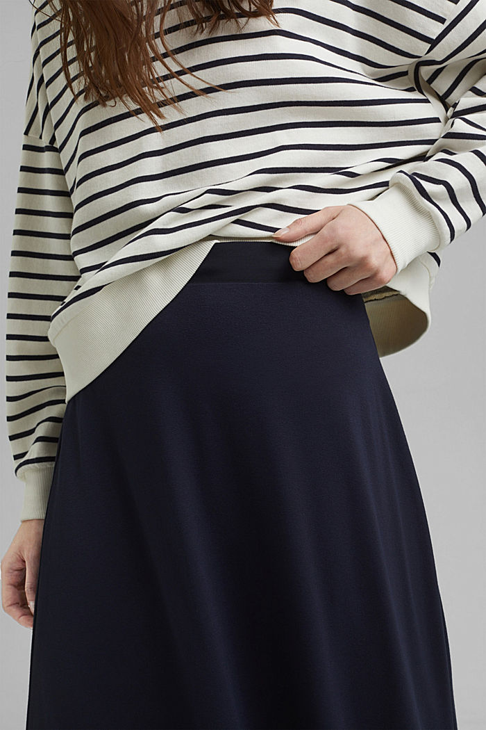 Jersey skirt with a hem frill, NAVY, detail image number 2