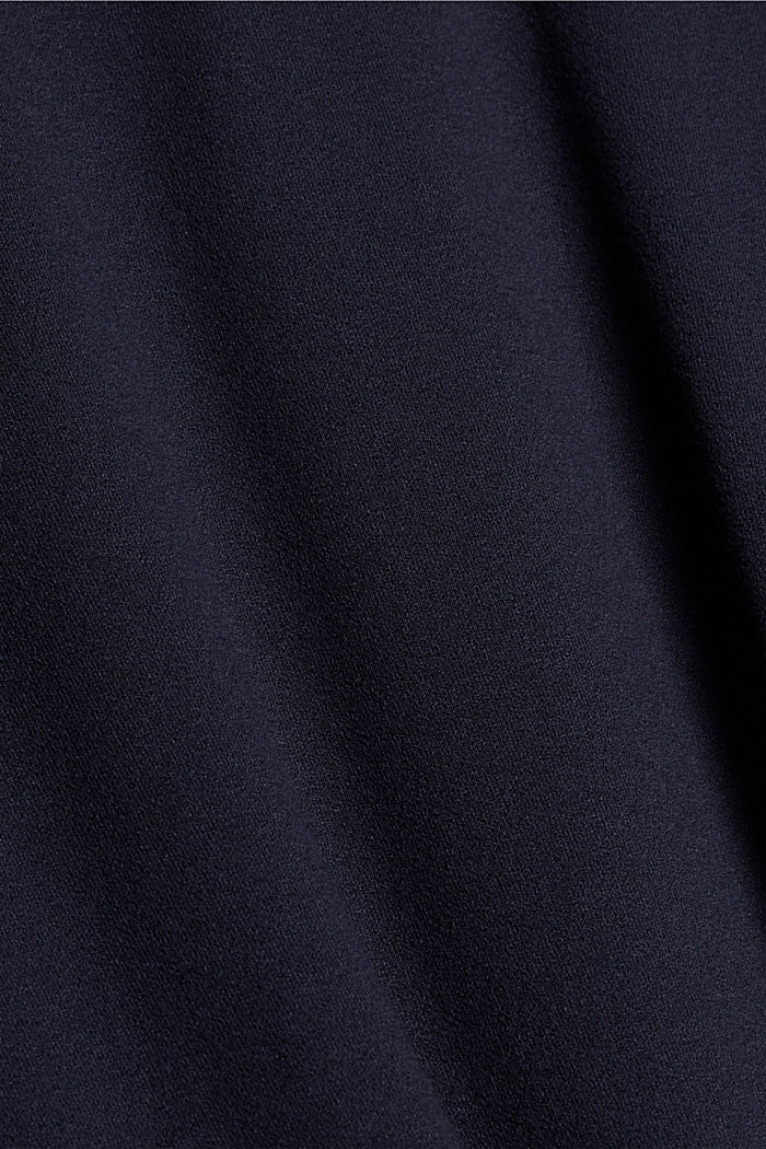 Jersey skirt with a hem frill, NAVY, detail image number 4