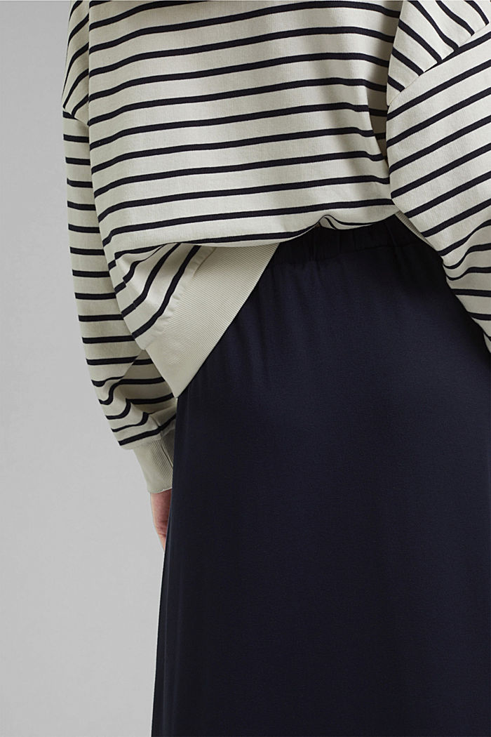 Jersey skirt with a hem frill, NAVY, detail image number 5