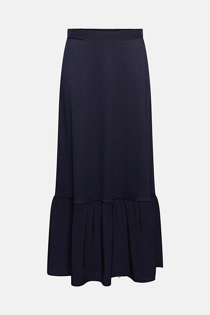 Jersey skirt with a hem frill, NAVY, detail image number 6