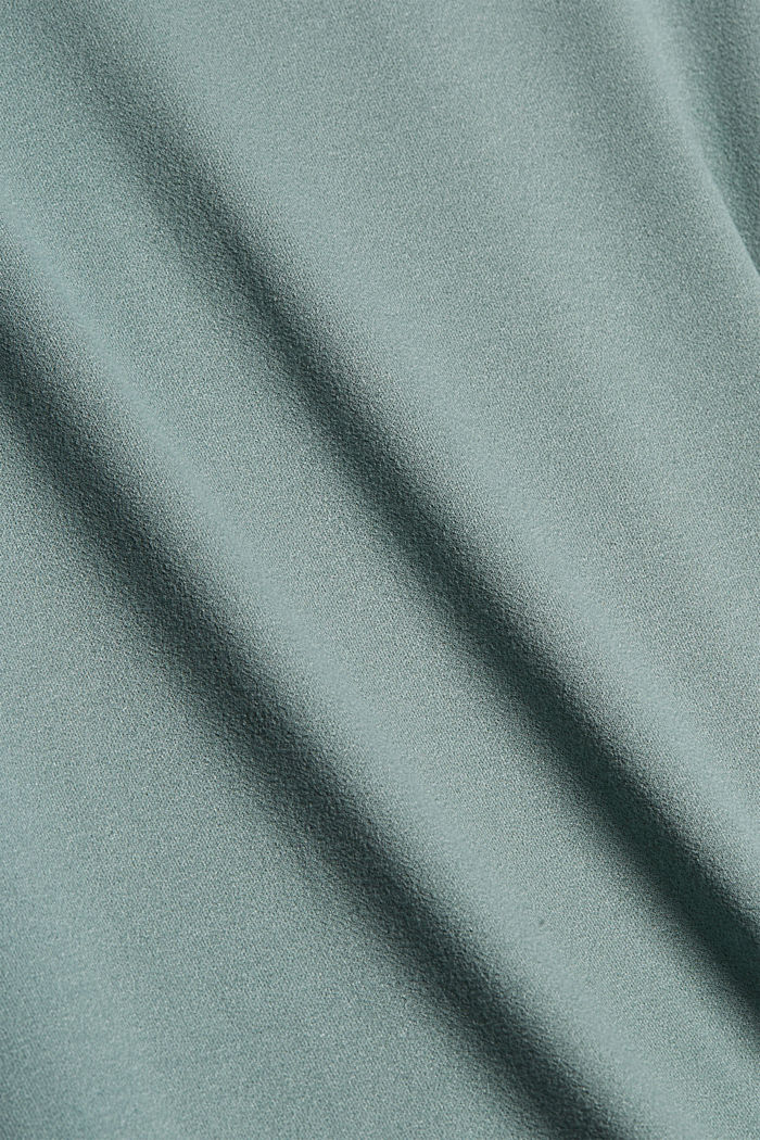 Jerseyrock mit Volantsaum, TURQUOISE, detail image number 4
