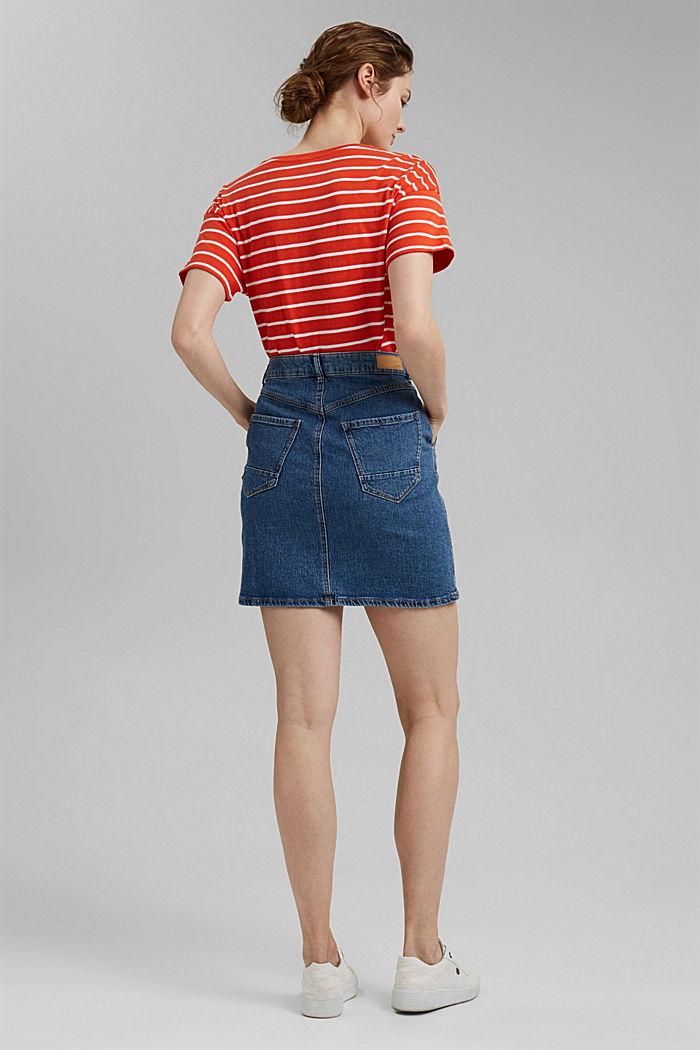 Denim skirt made of organic cotton, BLUE MEDIUM WASHED, detail image number 3