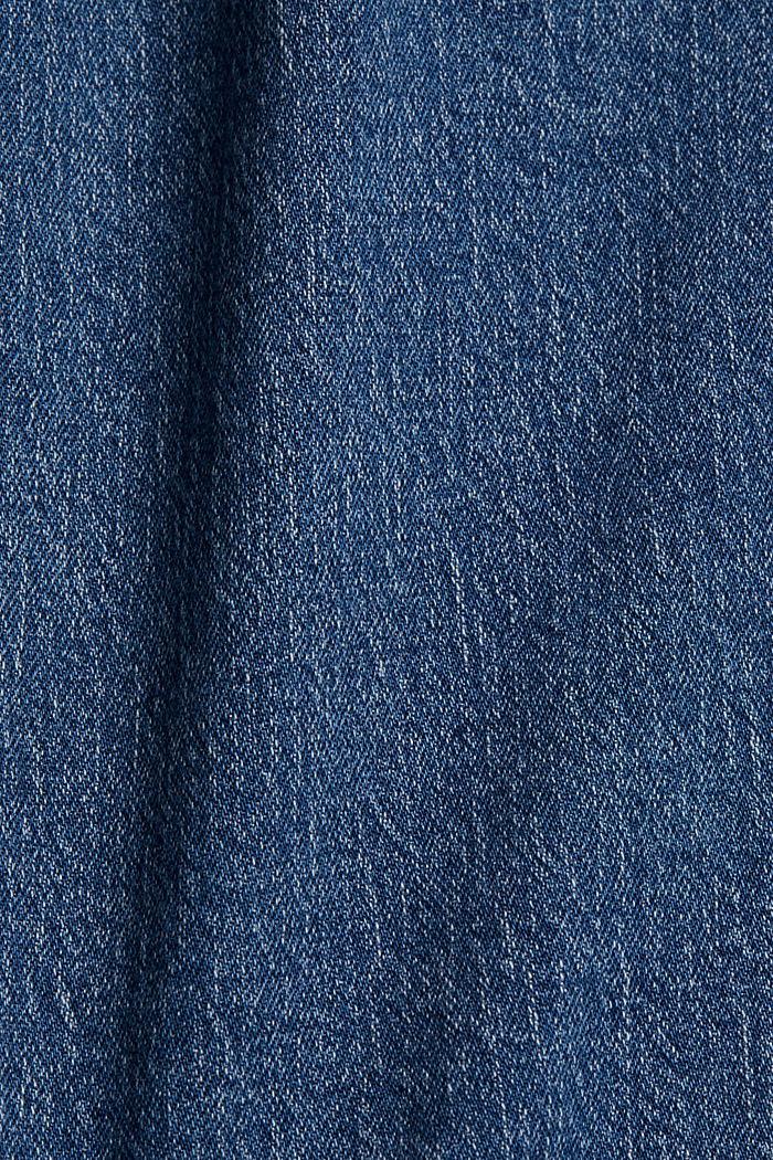 Denim skirt made of organic cotton, BLUE MEDIUM WASHED, detail image number 4