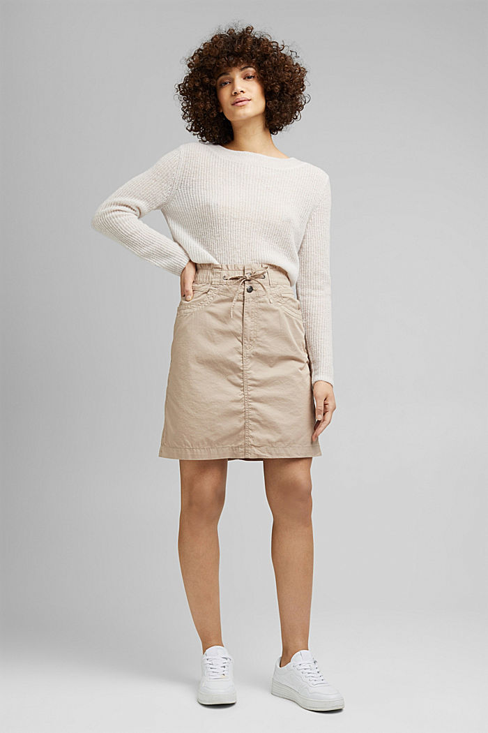 PLAY mini skirt made of 100% organic cotton, BEIGE, detail image number 1