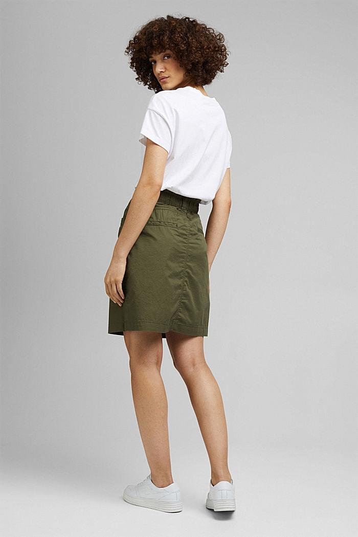 PLAY mini skirt made of 100% organic cotton, KHAKI GREEN, detail image number 3